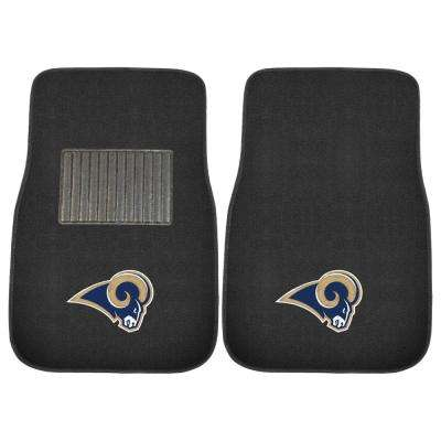 NFL - Los Angeles Rams 17 in. x 25.5 in. 2-Piece Set of Embroidered Car Mat