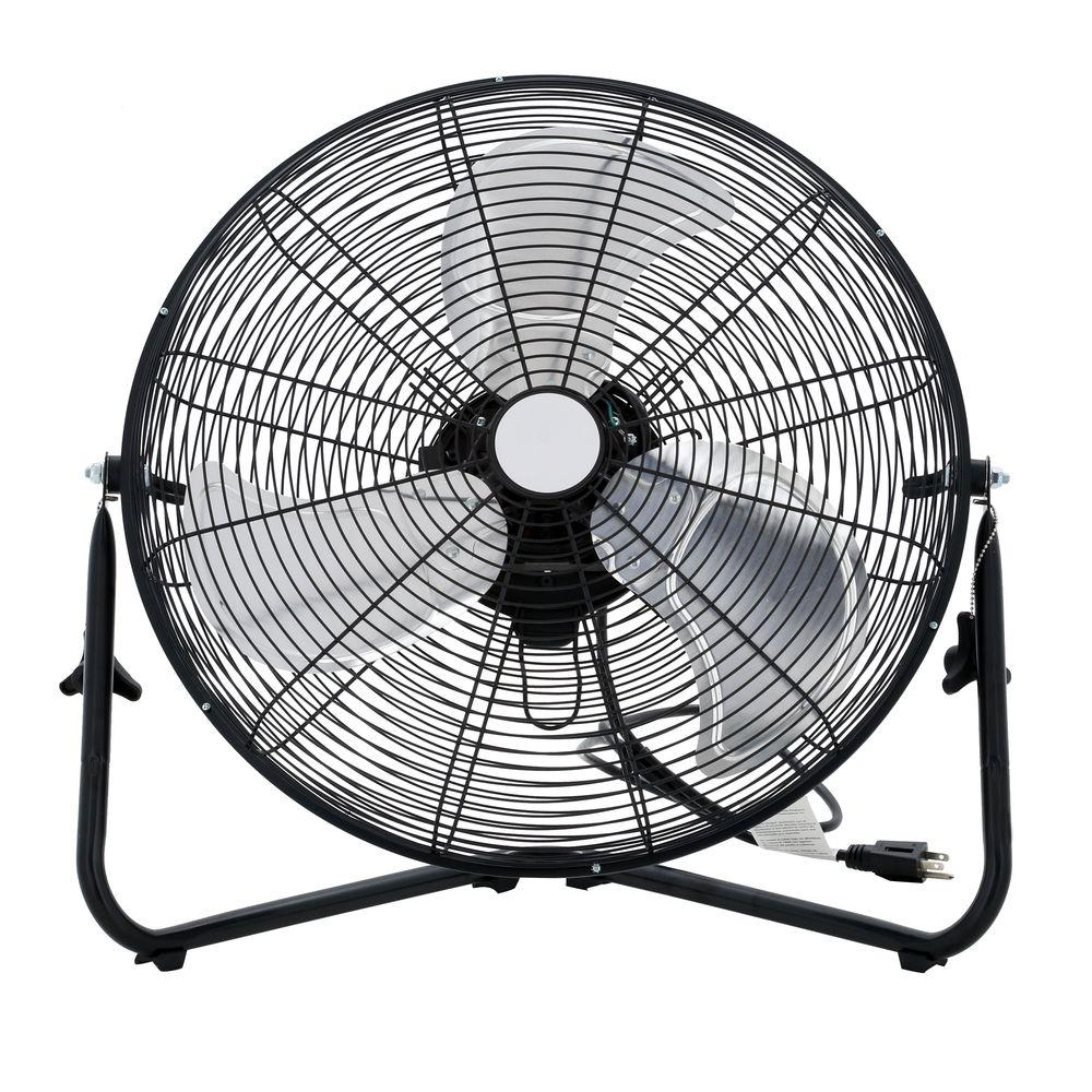 Home Depot Fans: 20 In. 3-Speed High-Velocity Floor Fan-SFC1-500B