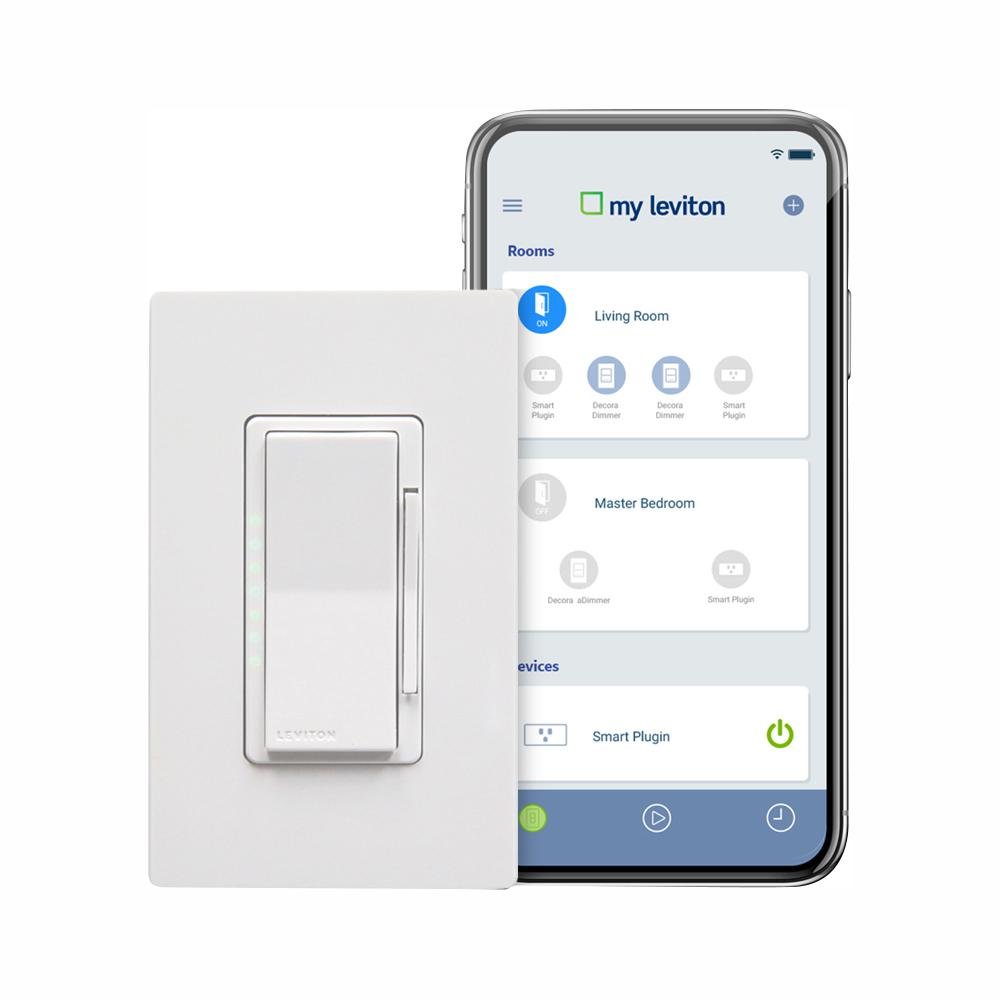 Leviton Decora Smart Wi-Fi 600W Incandescent/300W LED Dimmer, No Hub Required, Works with Alexa, Google Assistant (3-Pack)