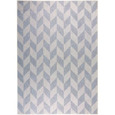 Patio Country Blue/Gray 9 ft. 2 in. x 12 ft. 5 in. Indoor/Outdoor Are Rug