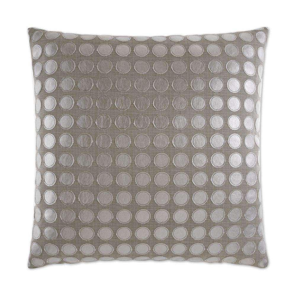 Love Platinum Geometric Down 24 in. x 24 in. Throw Pillow
