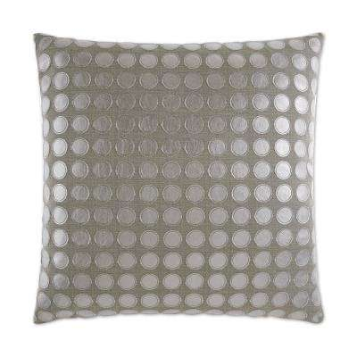 Love Game Platinum Feather Down 24 in. x 24 in. Standard Decorative Throw Pillow