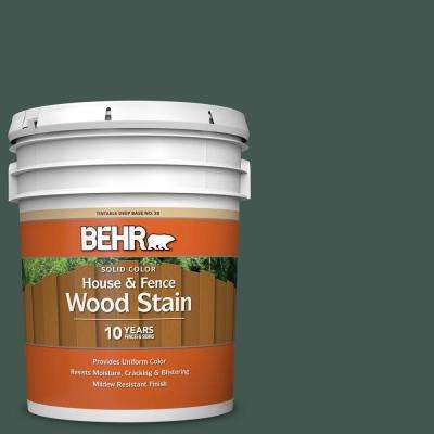 5 gal. #S420-7 Secluded Woods Solid Color House and Fence Exterior Wood Stain
