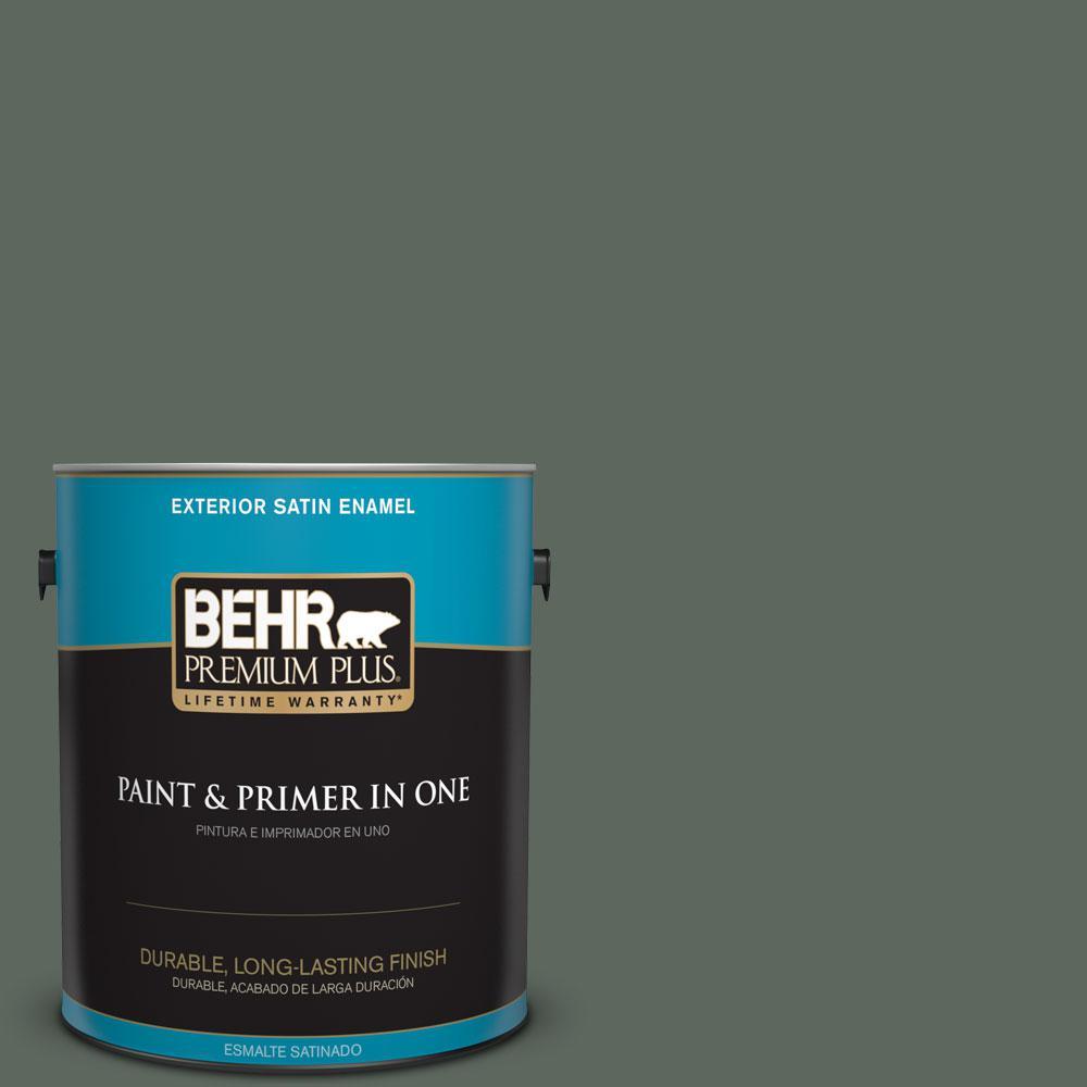 1-gal. #N420-6 Pine Mountain Satin Enamel Exterior Paint