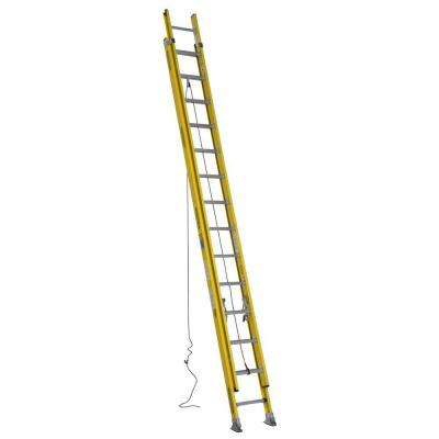 28 ft. Fiberglass Round Rung Extension Ladder with 375 lb. Load Capacity Type IAA Duty Rating