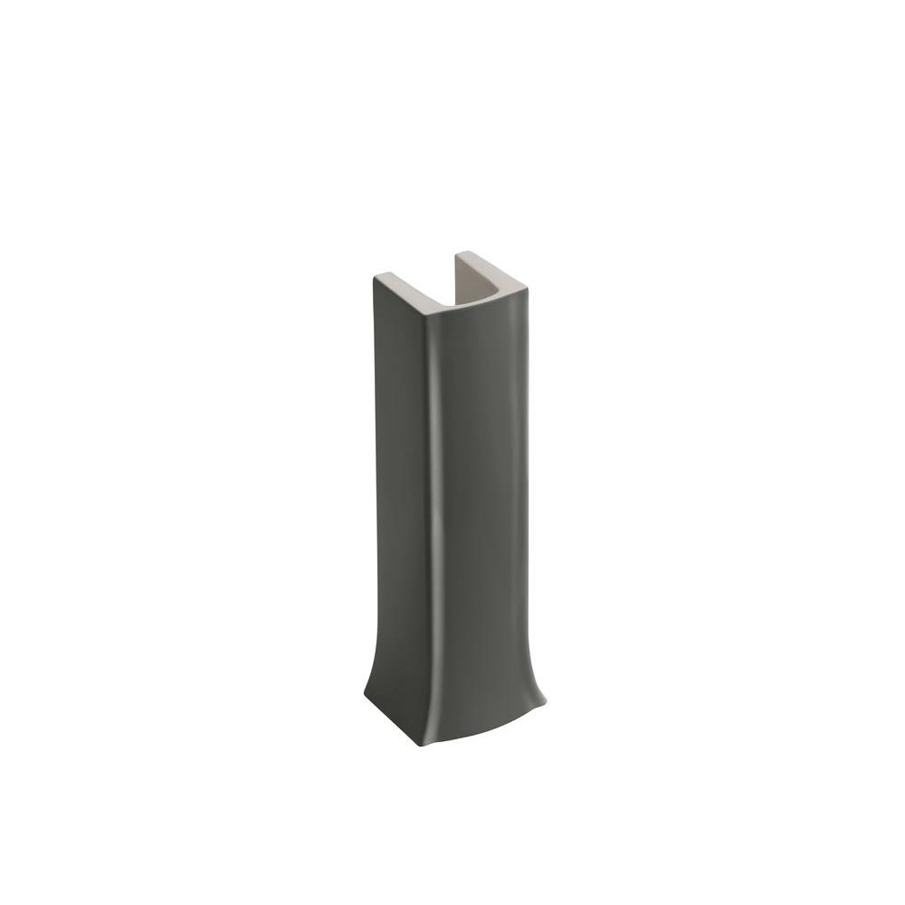 KOHLER Archer Vitreous China Pedestal in Thunder Grey