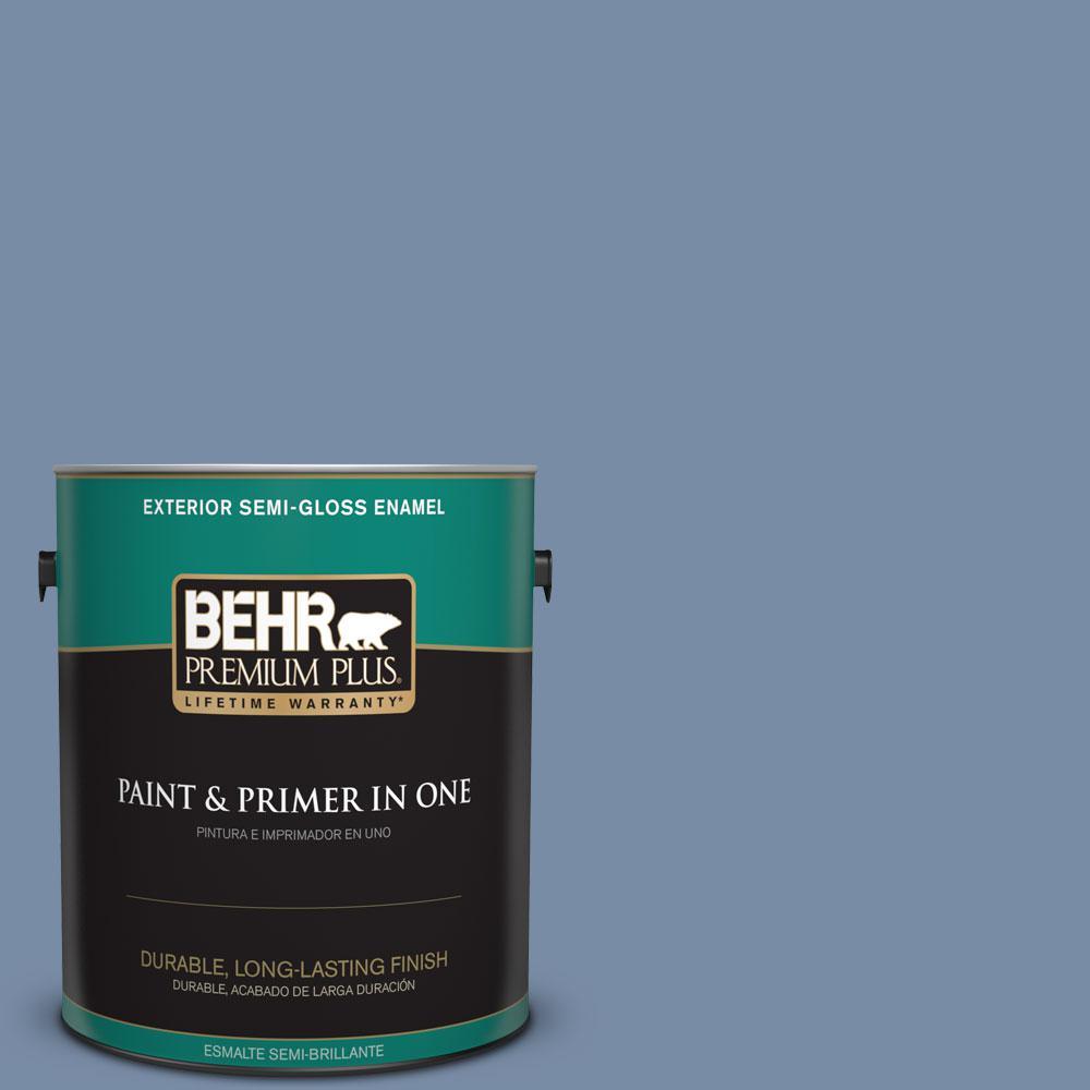 1-gal. #590F-5 Magic Spell Semi-Gloss Enamel Exterior Paint