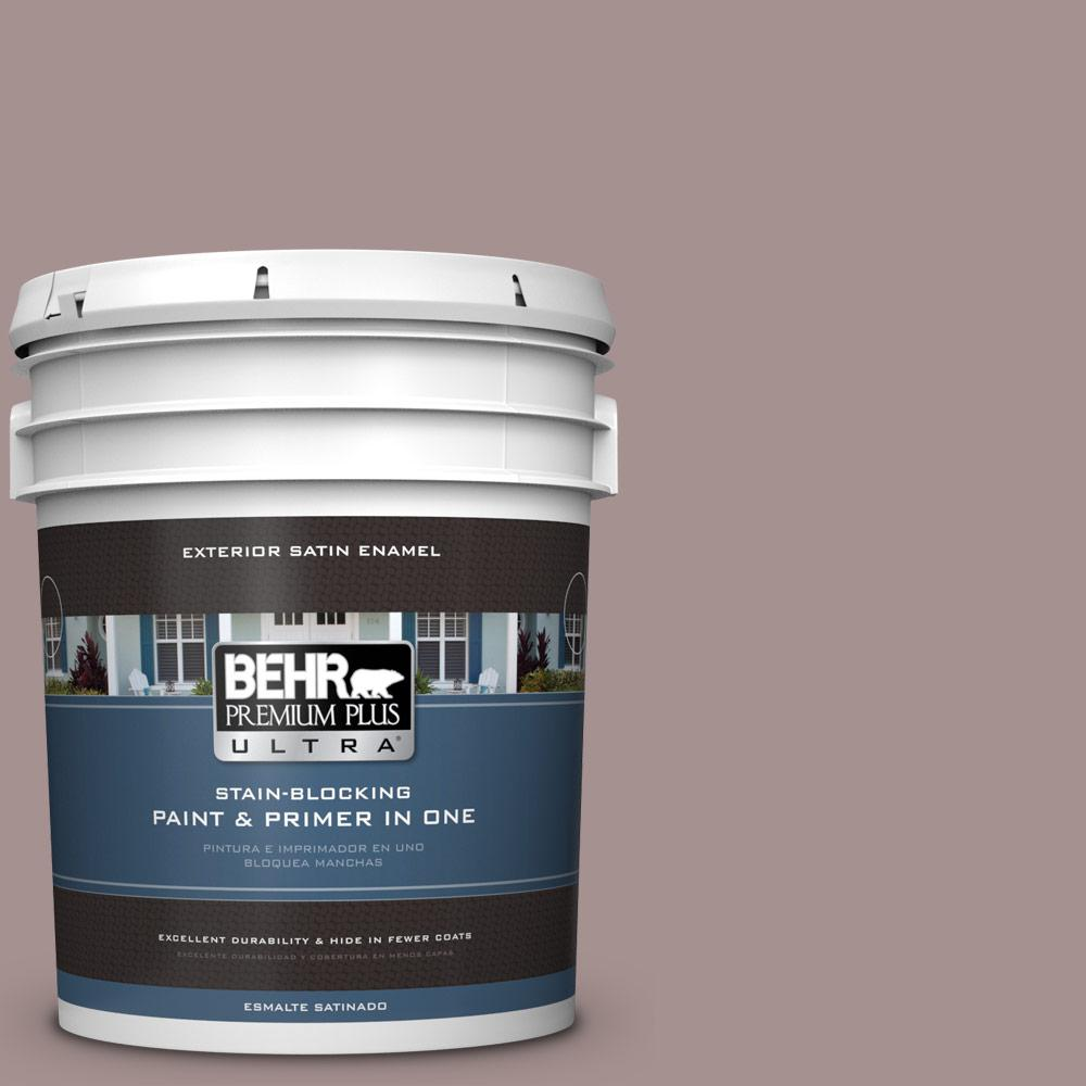 5 gal. #MQ1-40 Tribeca Satin Enamel Exterior Paint and Primer in