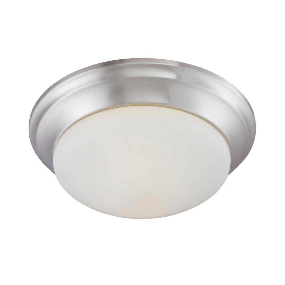 thomas lighting 2 light brushed nickel ceiling flushmount 190035217 rh homedepot com Brushed Nickel Bathroom Fan with Light Decorative Bathroom Fan