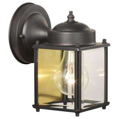 Park Avenue 1-Light Painted Bronze Outdoor Wall Mount Lantern