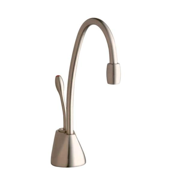 Indulge Contemporary Single-Handle Instant Hot Water Dispenser Faucet in Satin Nickel