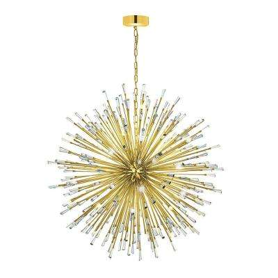 Vivaldo 50-Light Gold Chandelier