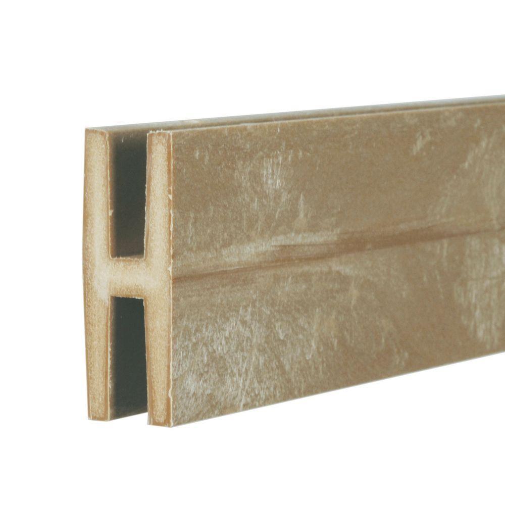 0.75 in. x 2 in. x 8 ft. Brownstone Plastic Lattice Divider