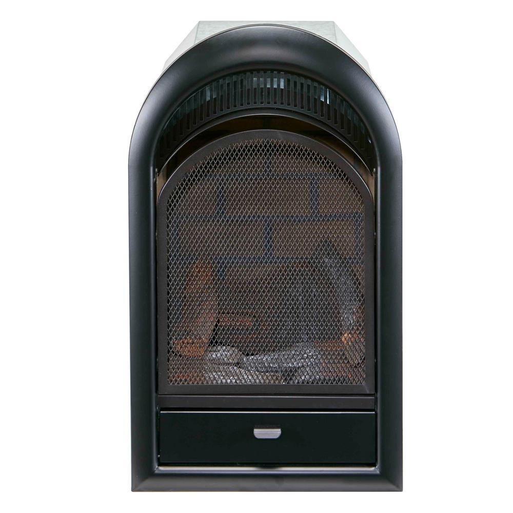 10,000 BTU Vent Free Propane Gas Fireplace Insert with T-Stat Control, Zero Clearance Design, Ceramic Fiber Brick Liner