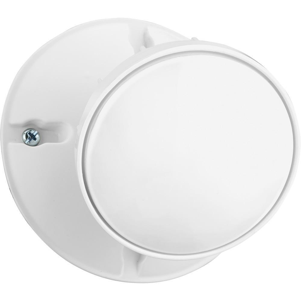 Lithonia Lighting White Outdoor Integrated LED Round Single Head Wall Mount  Flood Light