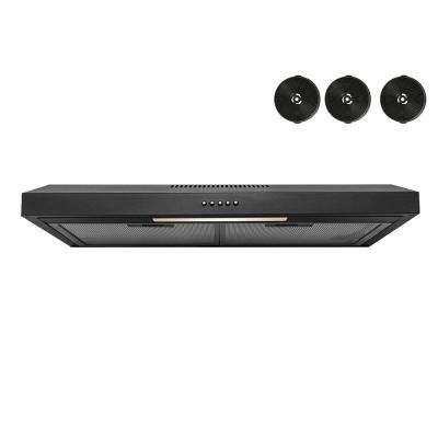 30 in. 58 CFM Convertible Under Mount Range Hood in Stainless Steel with a Halogen Light