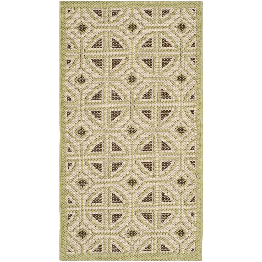 Courtyard Beige/Sweet Pea 2 ft. 7 in. x 5 ft. Indoor/Outdoor