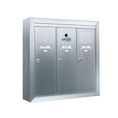 1250 Vertical Series 3-Compartment Aluminum Surface-Mount Mailbox