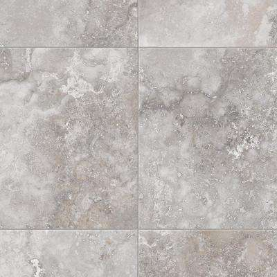 Take Home Sample Travertine Grey Vinyl Sheet - 6 in. x 9 in.