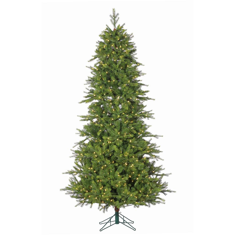 Sterling 7.5 ft. Pre-Lit Shasta Pine Christmas Tree with Power Pole ...