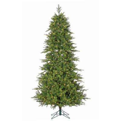 7.5 ft. Pre-Lit Shasta Pine Artificial Christmas Tree with Power Pole