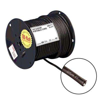 250 ft. 14/3 Black Portable Power SJOOW Electrical Cord