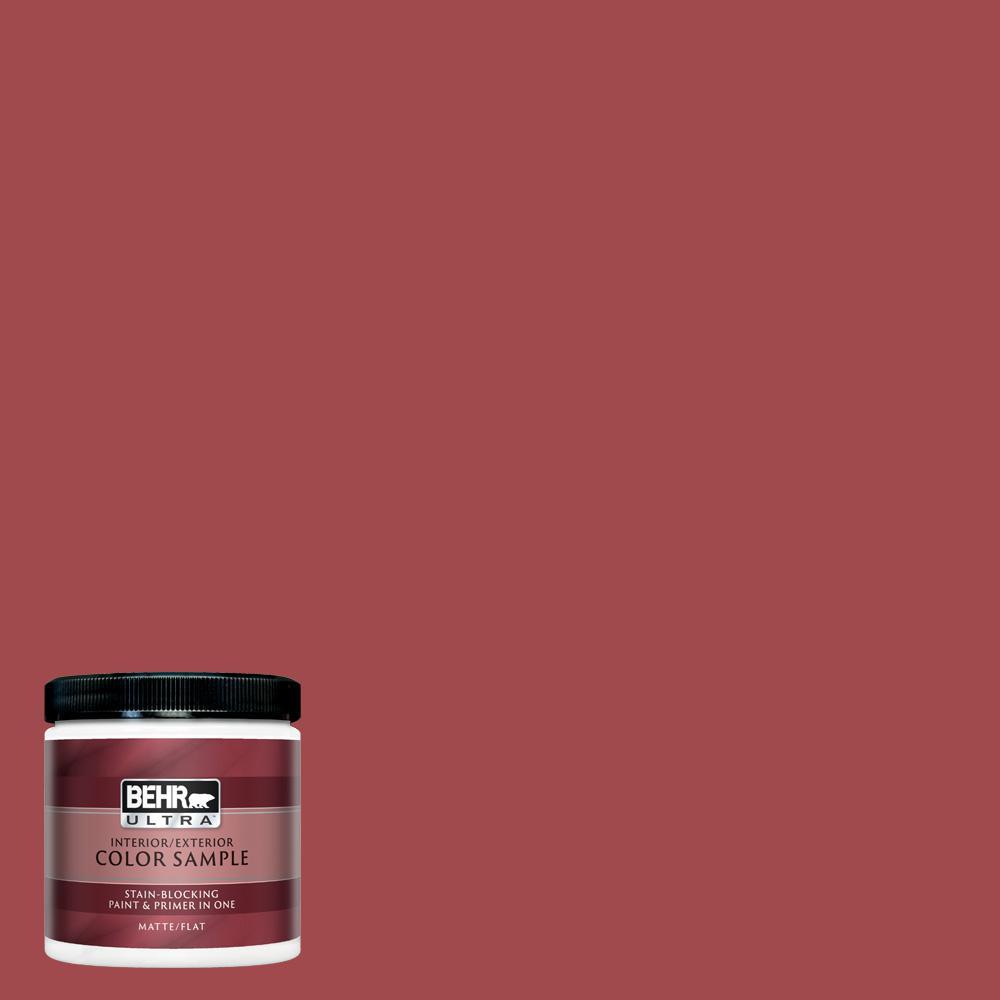 BEHR ULTRA 8 oz  #ICC-107 Crimson Matte Interior/Exterior Paint and Primer  in One Sample