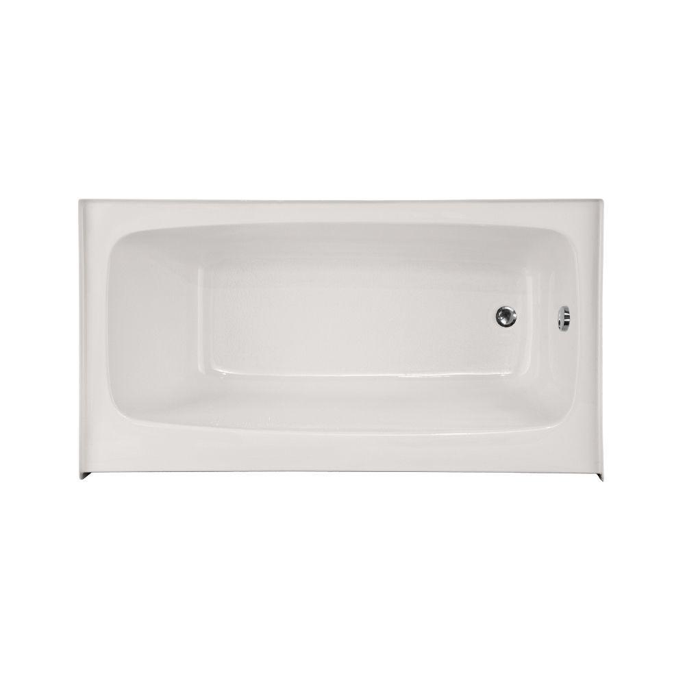 Hydro Systems Trenton 4.5 ft. x 36 in. Right Drain Bathtub in White ...