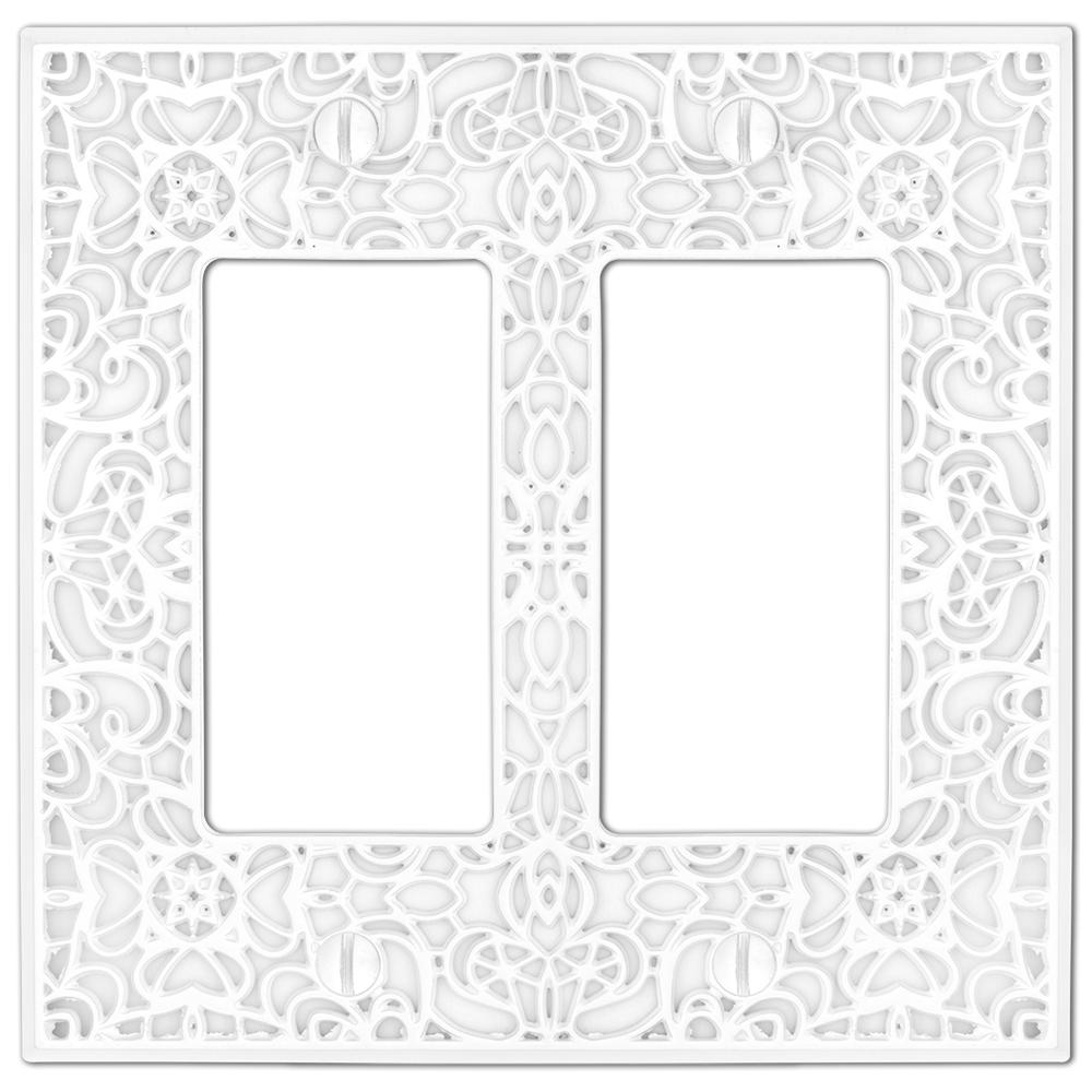amerelle momfort 2-decora wall plate  white-73rrw