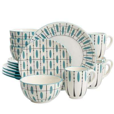 Luminescent 16-Piece Hand Painted Dinnerware Set