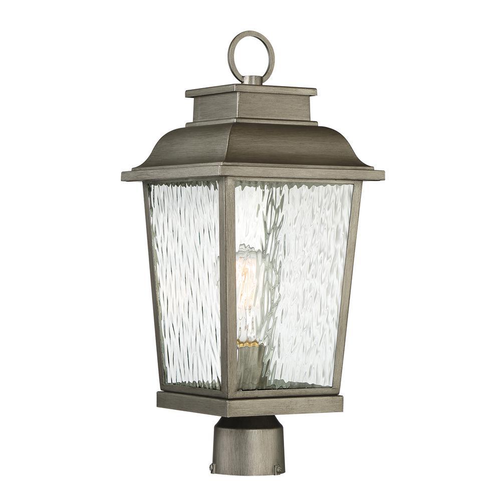 Brinley 1-Light Weathered Iron Outdoor Post Lantern