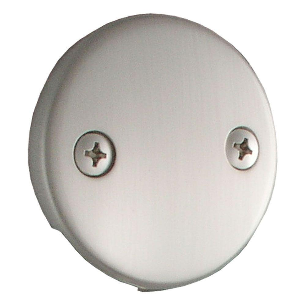 LDR Industries Double-Hole Tub Overflow Plate-552 5111BN - The Home ...