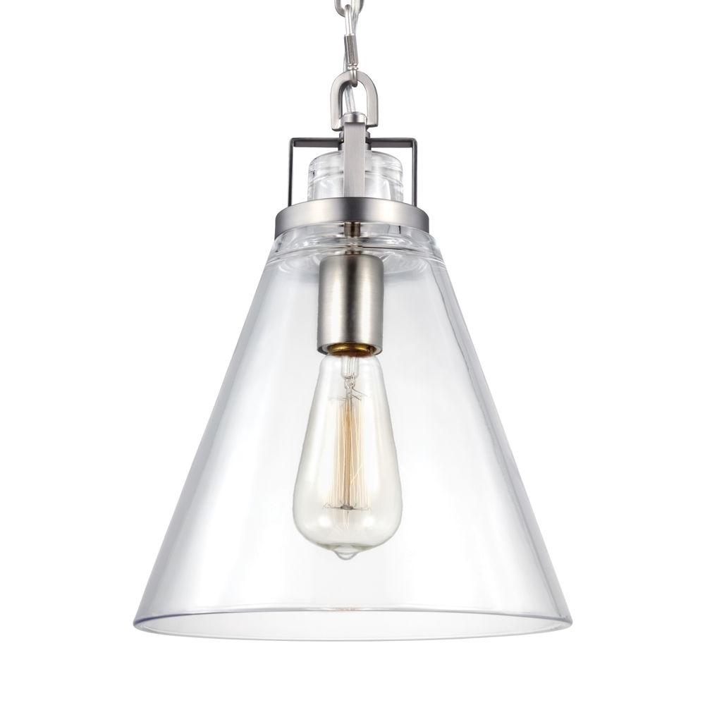 Frontage 1-Light Satin Nickel Pendant