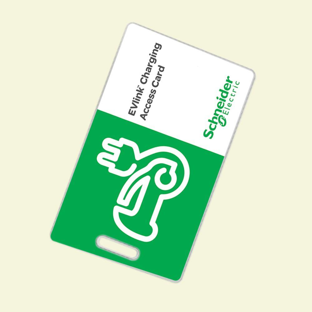 Schneider Electric RFID Authentication Cards for EVlink Commercial Electric Vehicle Charging Stations (10-Pack)