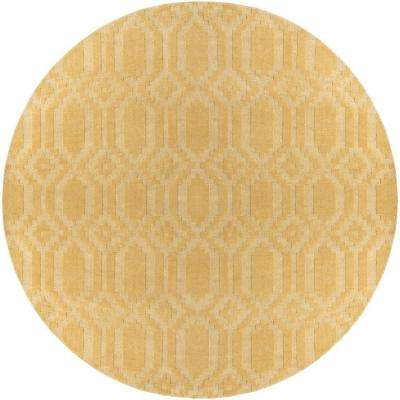 Metro Scout Yellow 10 ft. x 10 ft. Round Indoor Area Rug