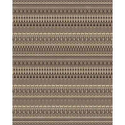 Washable Cadiz Espresso 8 ft. x 10 ft. Area Rug