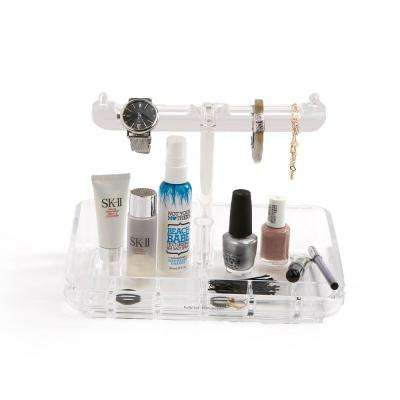 9-Compartment Clear Over-the-Cabinet Vanity Organizer