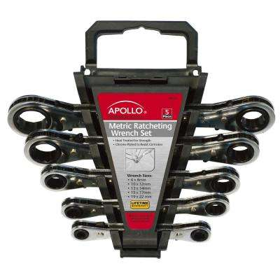 Metric Ratcheting Wrench Set (5-Piece)
