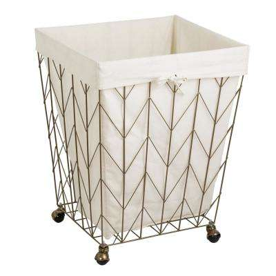 Coastal Collection Bronze Steal Laundry Hamper with Wheels