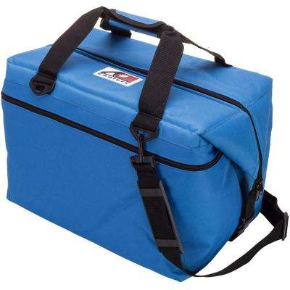 56 Qt. Canvas Cooler with Shoulder Strap and Wide Outside Pocket