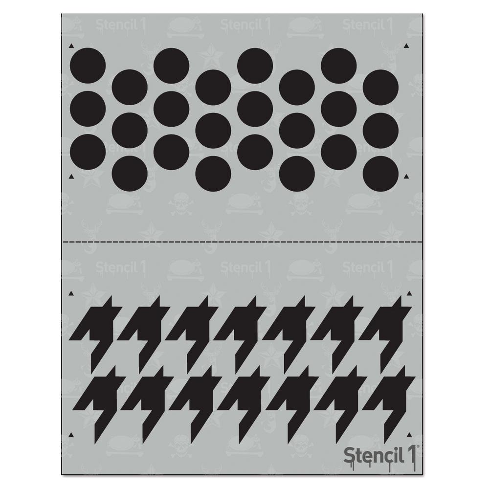 Stencil1 Dots And Houndstooth Medium Repeat Pattern Stencil S1pa41