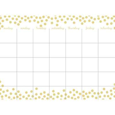 Metallic Confetti Dots Monthly Calendar