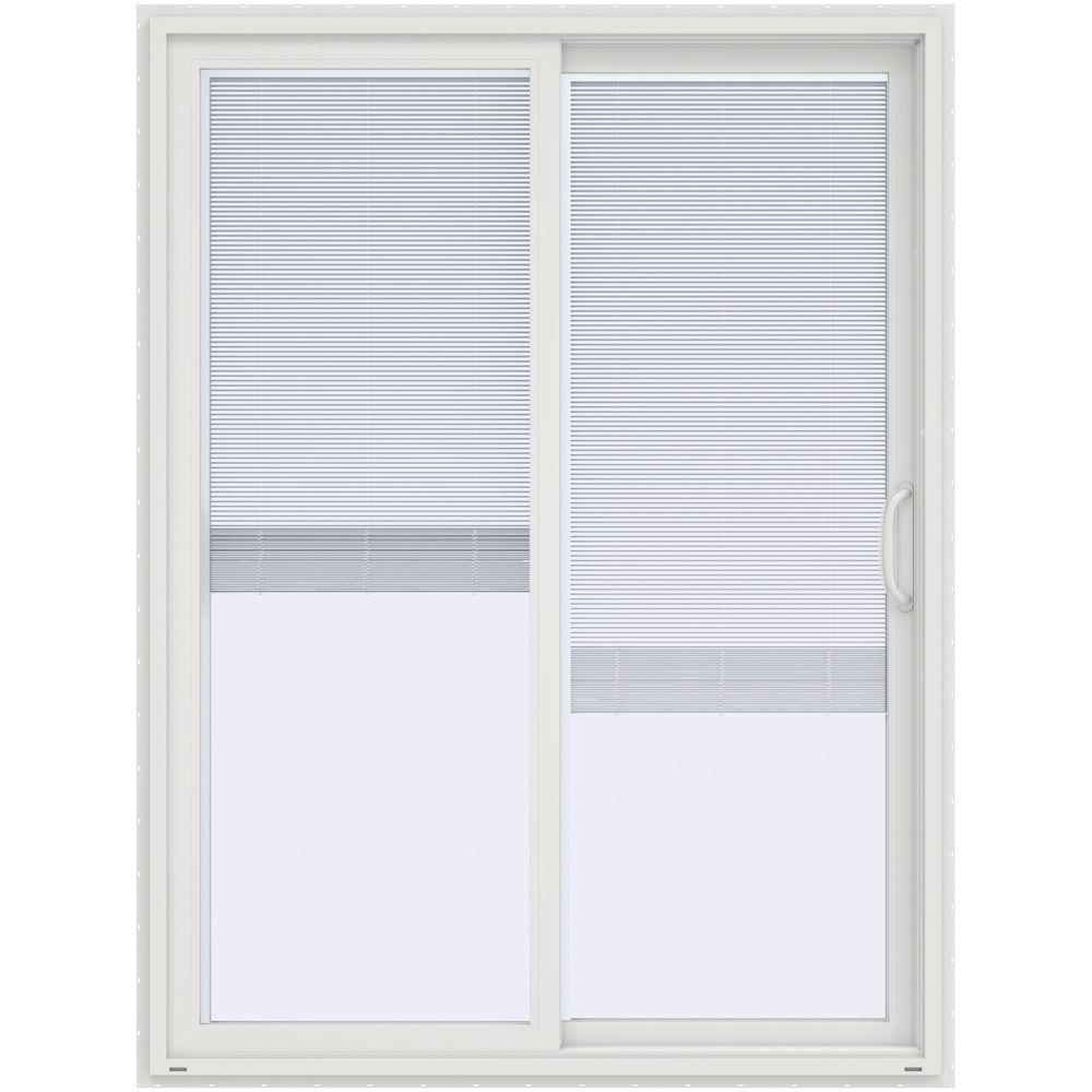 Jeld wen 60 in x 80 in v 4500 contemporary white vinyl left hand this review is from60 in x 80 in v 4500 contemporary white vinyl right hand full lite sliding patio door wblinds planetlyrics Gallery