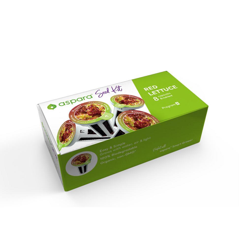 Organic Red Lettuce 8 Capsule Seed Kit