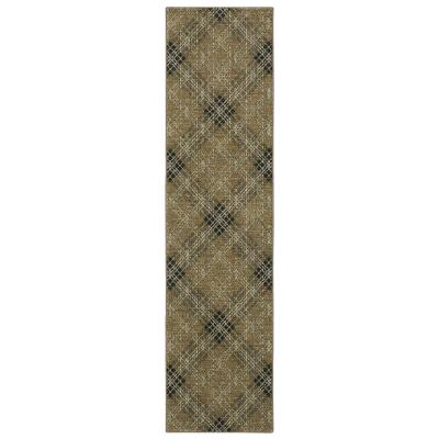 Mohawk Home Russell Plaid Earth 2 ft. 6 in. x 10 ft. Indoor Runner Area Rug