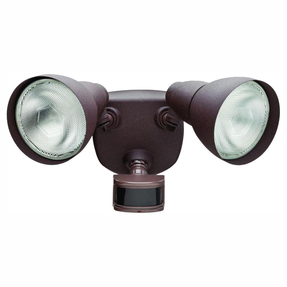 Defiant 270° Rust Motion Outdoor Security Light-DF-5718-RS