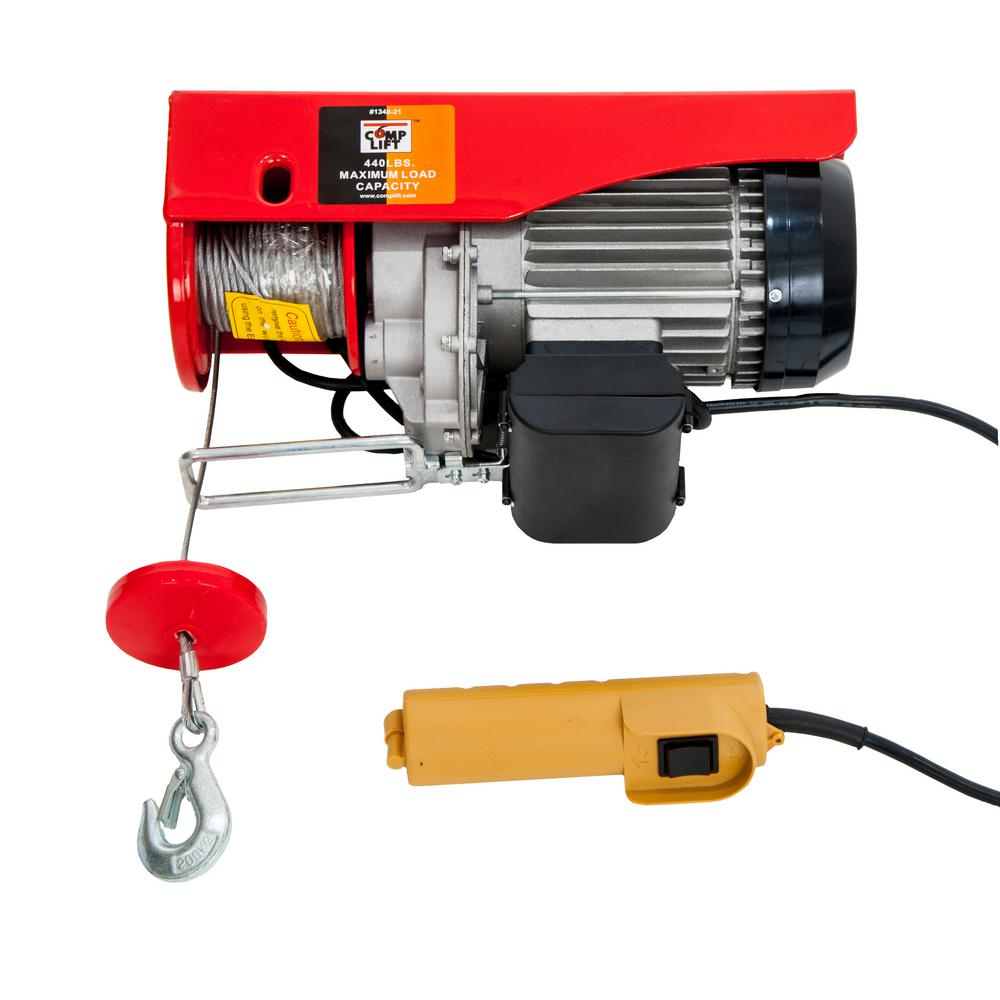Complift COMPLIFT 440 lb. Single Cable / 880 lbs. Double Cable 39 ft. Length Electric Hoist with Remote Control for Item #1348-21