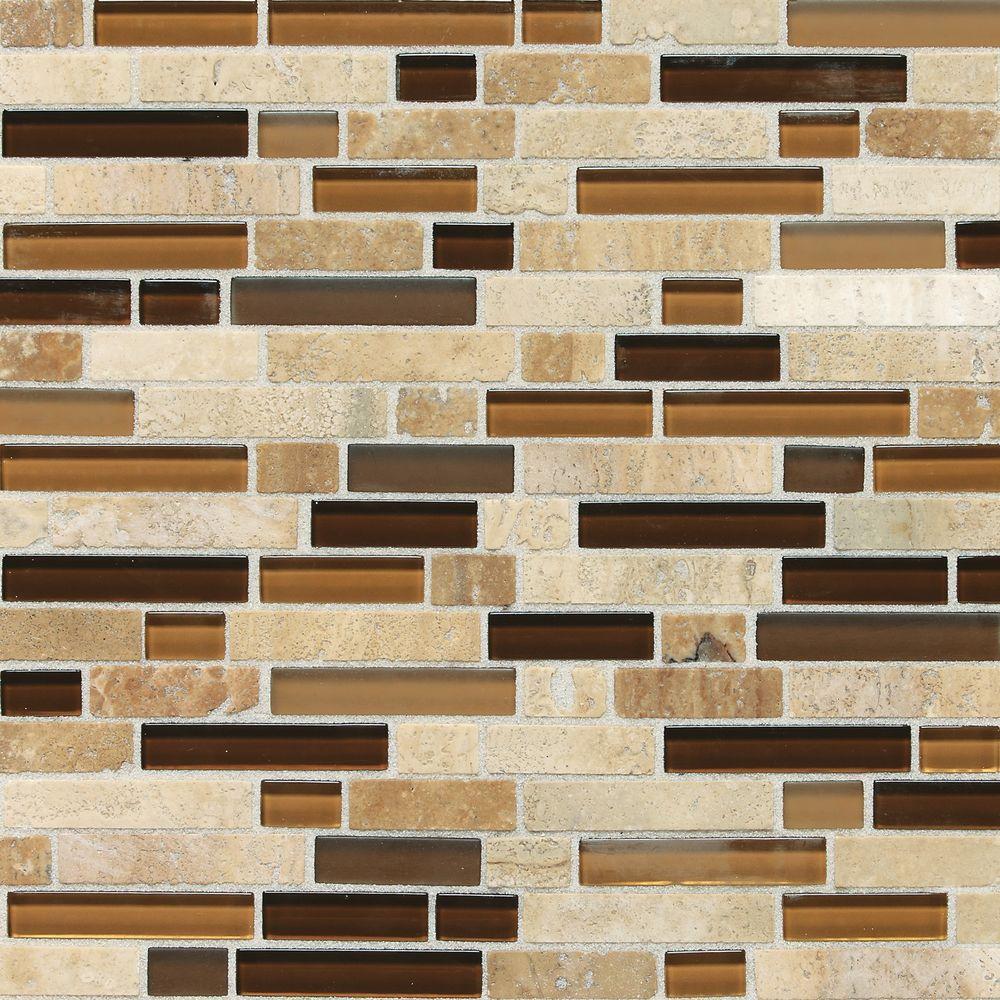 Kitchen Granite Wall Tiles: Daltile Stone Radiance Caramel Travertino 11-3/4 In. X 12