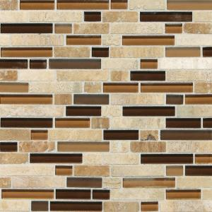Daltile Stone Radiance Caramel Travertino 11 3 4 In X 12