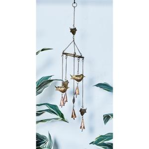 Gold Iron Birds Wind Chime by